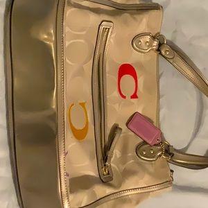 Large Coach shoulder bag